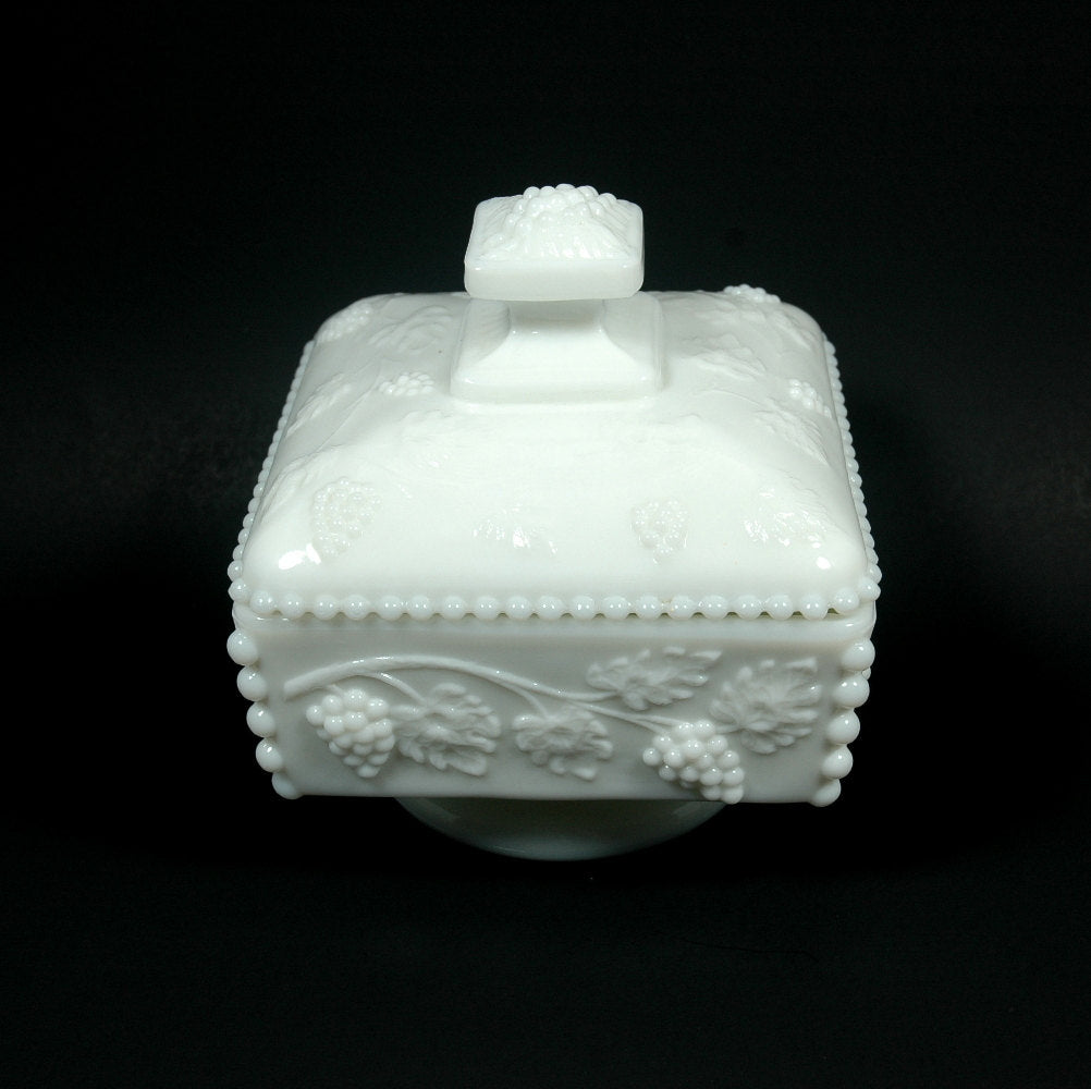 Vintage Candy Dish Westmoreland Grape Milk Glass