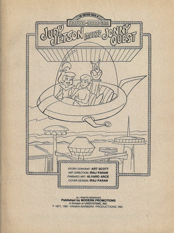 Rare Jonny Quest Meets Judy Jetson Coloring Book (c.1977)