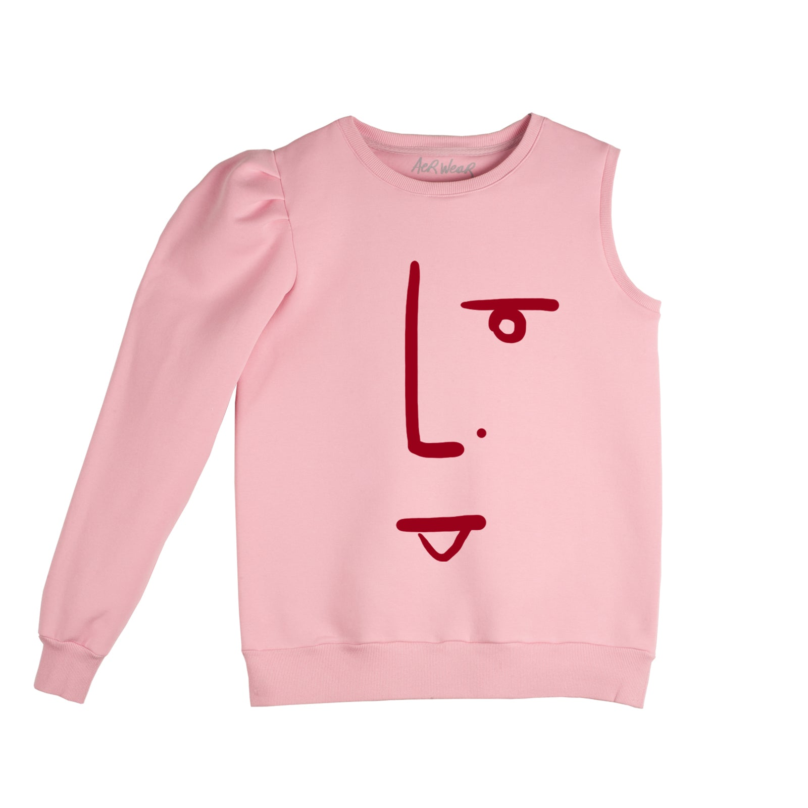 THE FACE, one sleeve sweatshirt