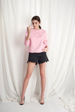 PINK OBSESSION Sweatshirt- Small FUCK