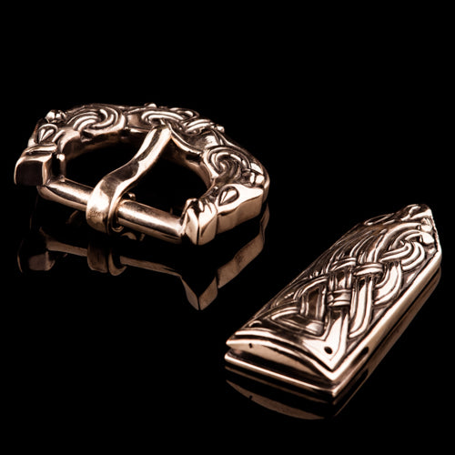 Viking Wolf Buckle Set in Ringerike Style