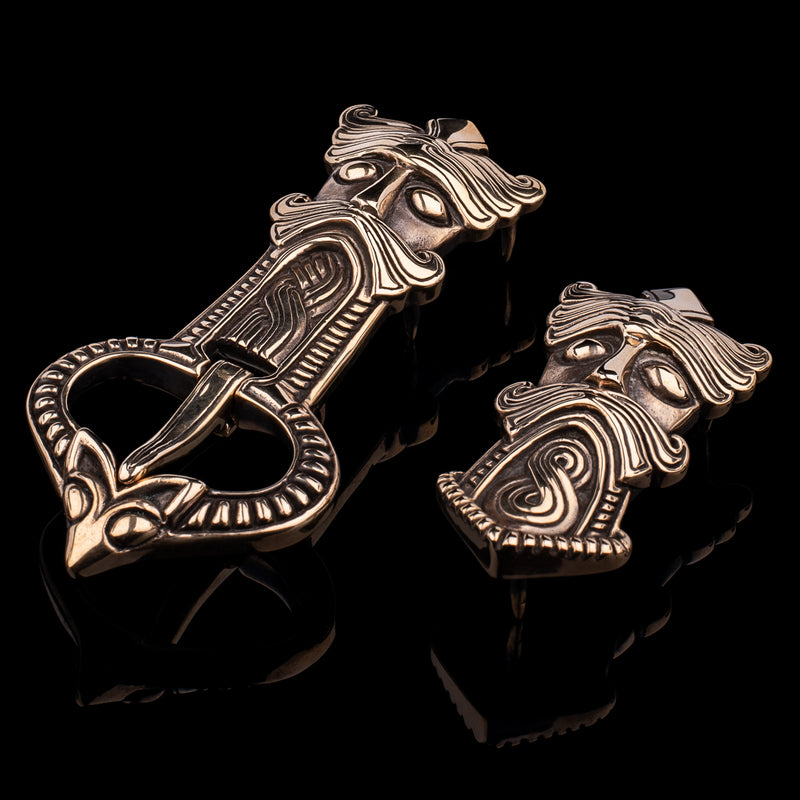 Viking Mask Buckle Set