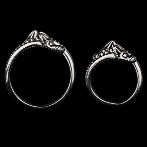 Viking Double Head Wolf Ring