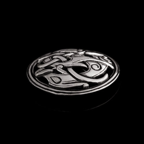 Viking Round Brooch with Urnes Dragon