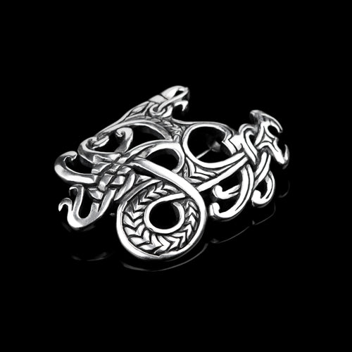 Viking Dragon Brooch in Ringerike Style