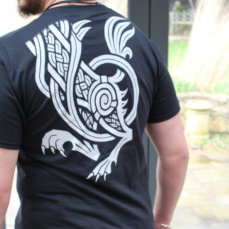 Viking T-Shirt with Wolf Fenrir