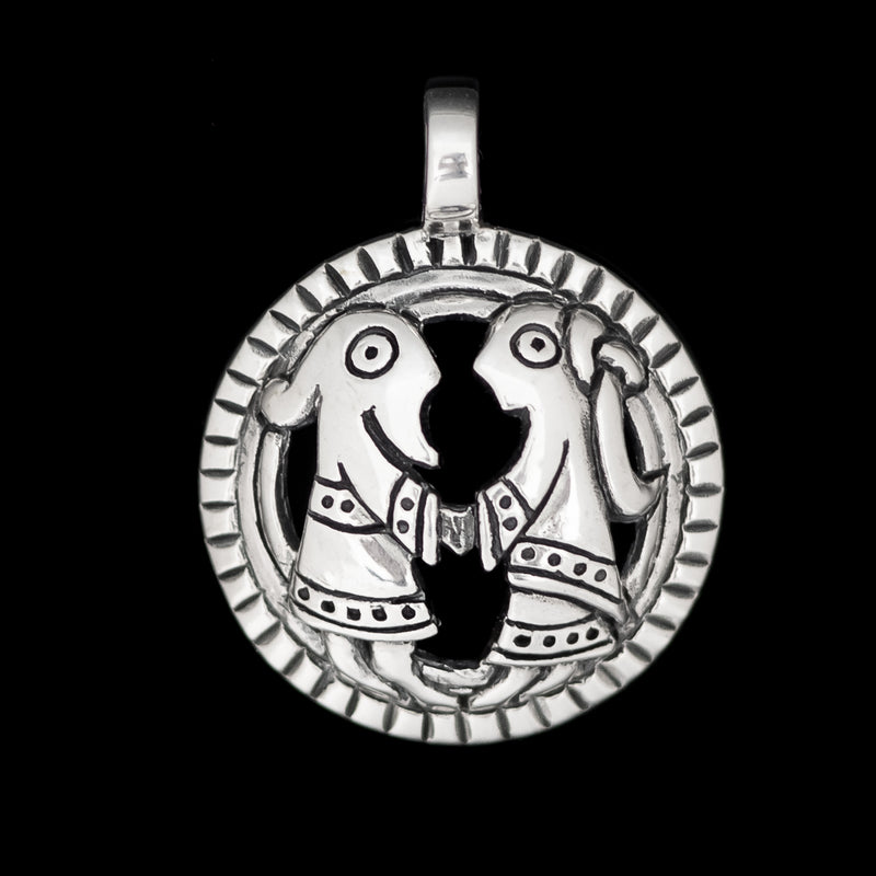 Icelandic Thors Hammer Wolf Cross