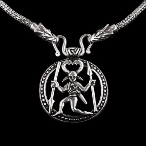 Odin Horned Viking Warrior Pendant