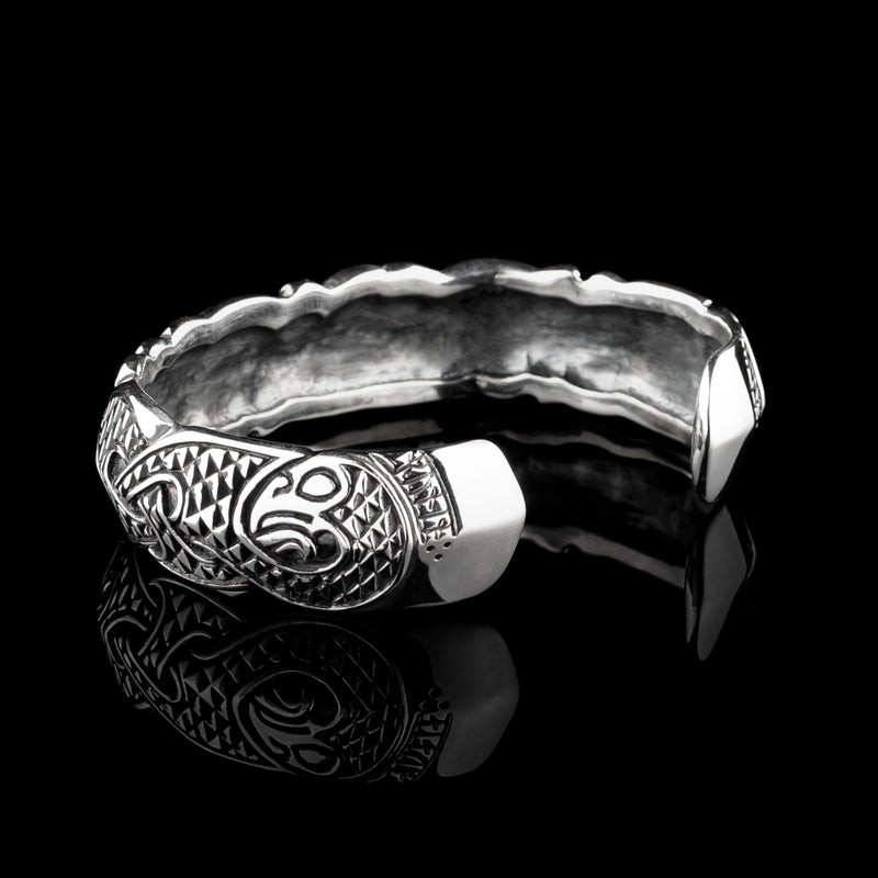 Viking Raven Armring with Runes