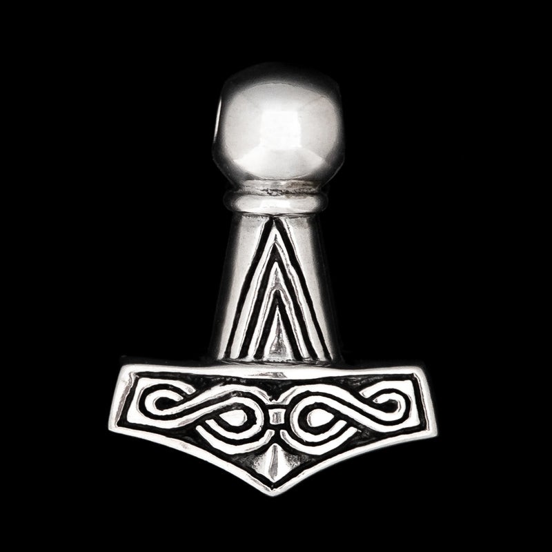 Small Thors Hammer with Knotwork
