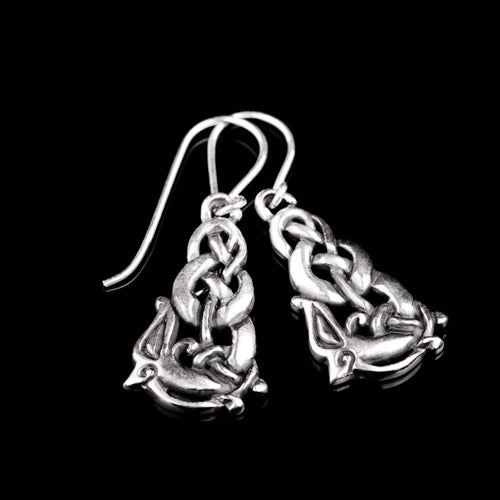 Urnes Wolf Viking Earrings
