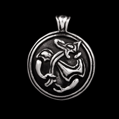 Small Viking Wolf Pendant
