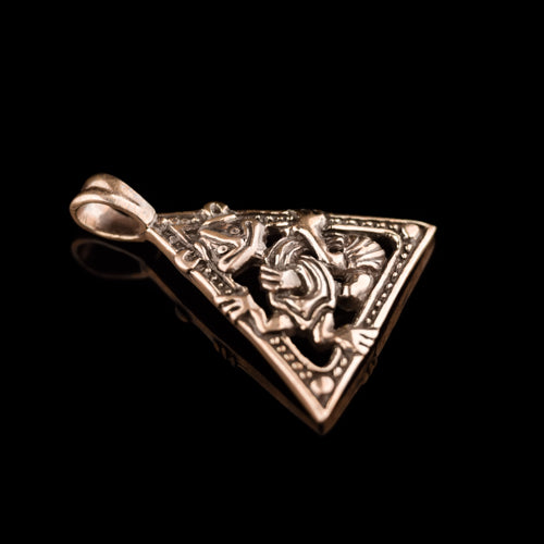 Triangular Gripping Beast Pendant