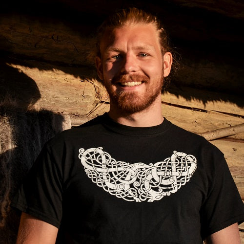 Viking T-Shirt with Urnes Style Animals