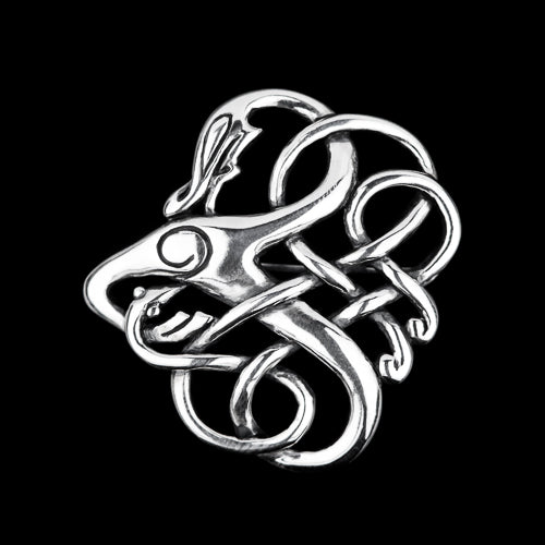 Viking Serpent Brooch