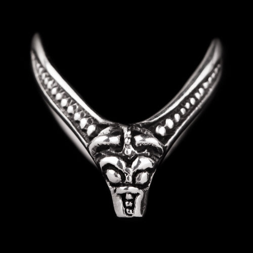 V Shape Ring with Beast Head