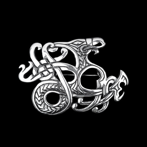 Viking Dragon Brooch in Urnes Style
