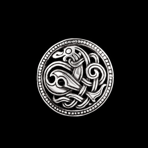 Viking Dragon Brooch in Jelling Style
