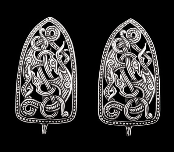 Viking Strap End Brooches in Jelling Style