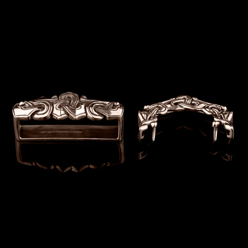Three Piece Belt Set With Wolf Heads Ringerike Style
