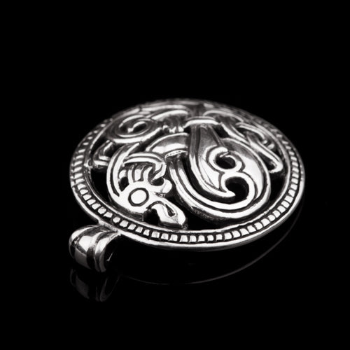 Viking Dragon Pendant in Jelling Style