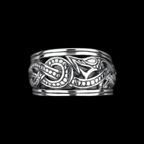 Silver Viking Openwork Dragon Ring