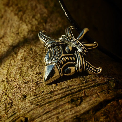 Viking Raven Head Pendant