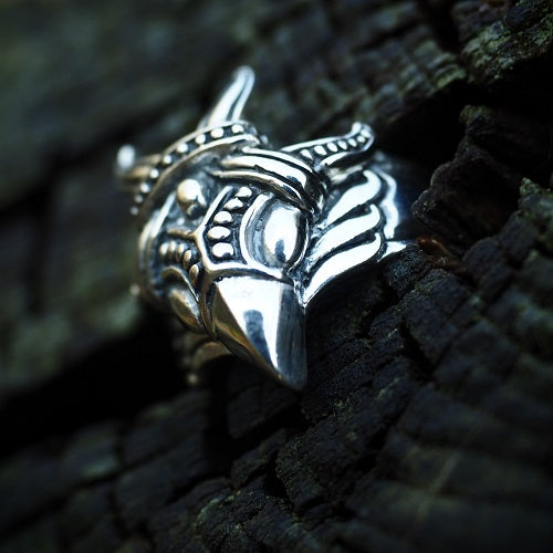 Viking Raven Head Ring