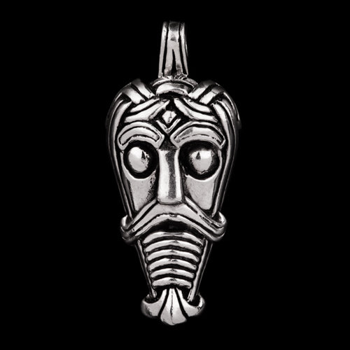 Viking Warrior Mask Pendant from Trelleborg