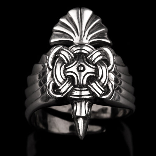 Winged Viking Raven Ring