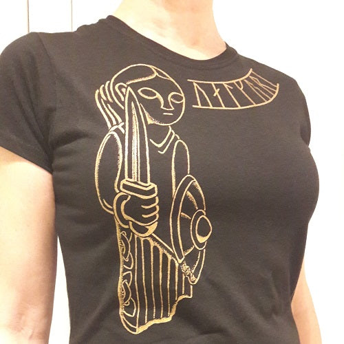 Viking Women's T-Shirt with Valkyrie Design