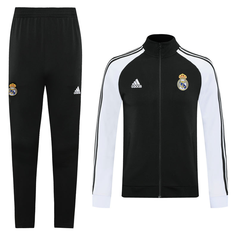 Real Madrid Black and White Training Suit 20 21 Season