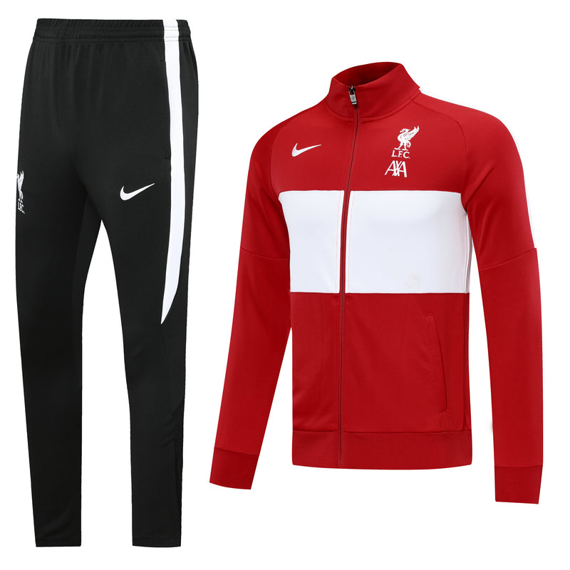 Liverpool Red and White Training Suit 20 21 Season
