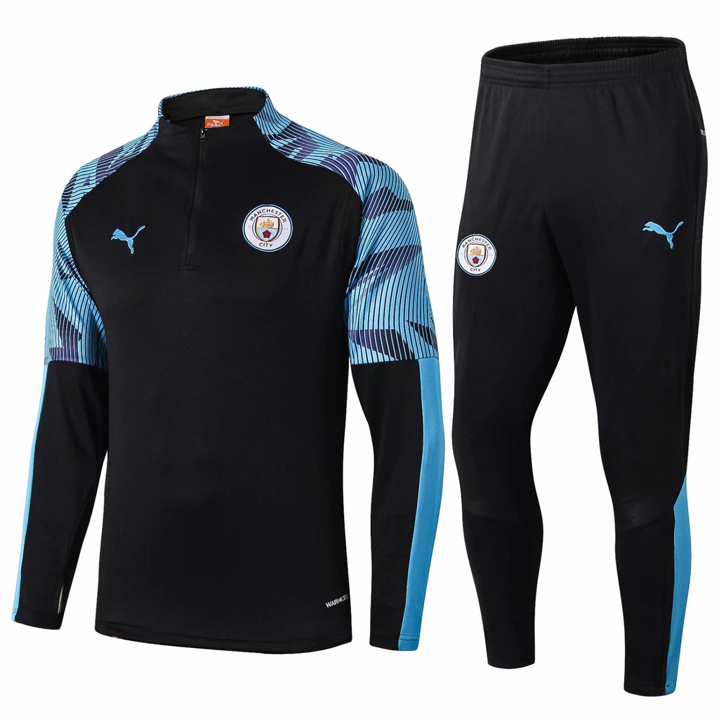 Manchester City Black Training Suit 19 20 Season