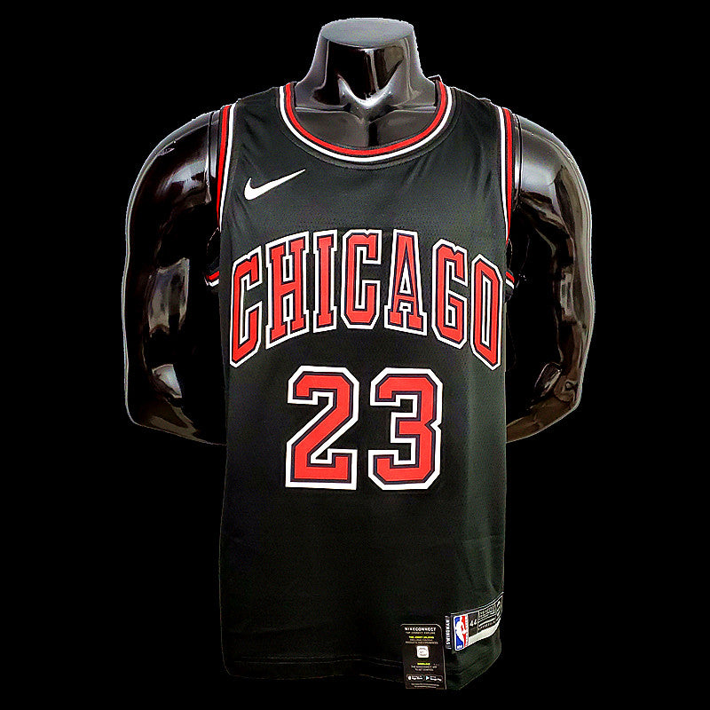 Chicago Bulls Michael Jordan 23 Black NBA Jersey