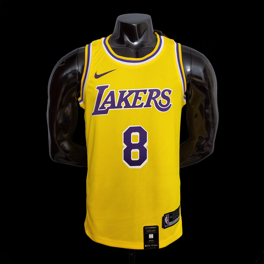 Los Angeles Kobe Bryant 8 Lakers Yellow NBA Jersey
