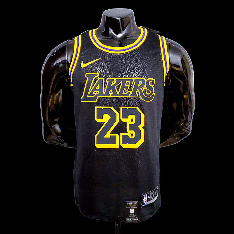 Los Angeles LeBron James 23 Lakers Black NBA Jersey