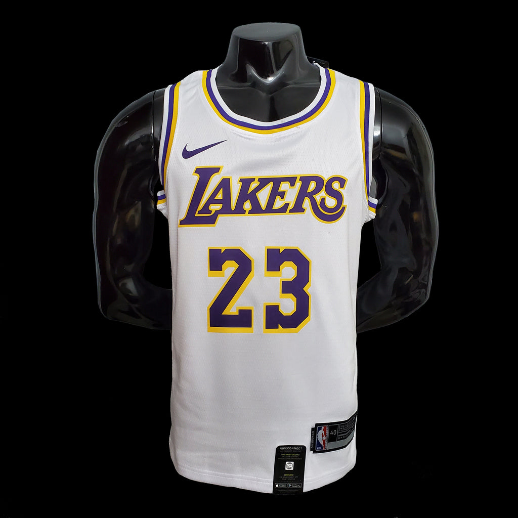 Los Angeles LeBron James 23 Lakers White NBA Jersey