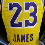 Los Angeles LeBron James 23 Lakers Yellow NBA Jersey