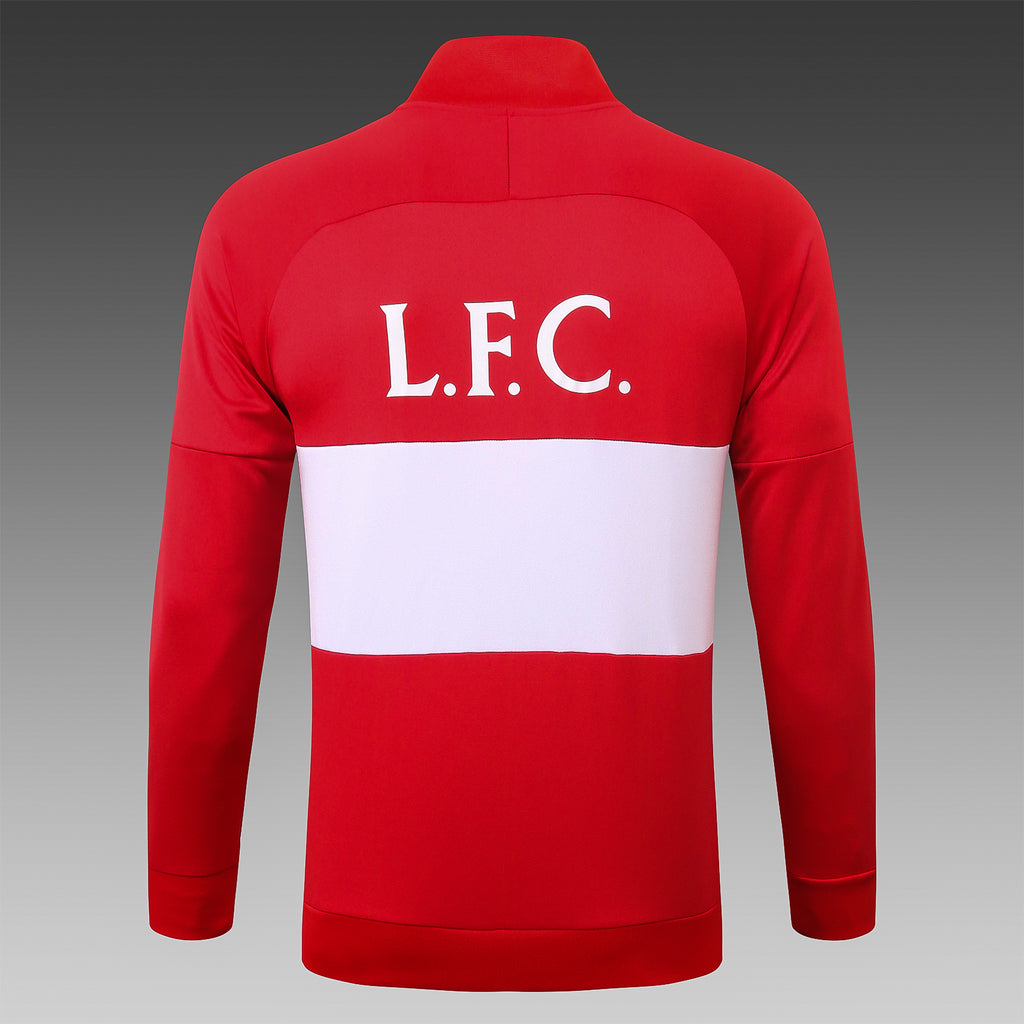 Liverpool Red and White Winter Jacket 20 21 Season