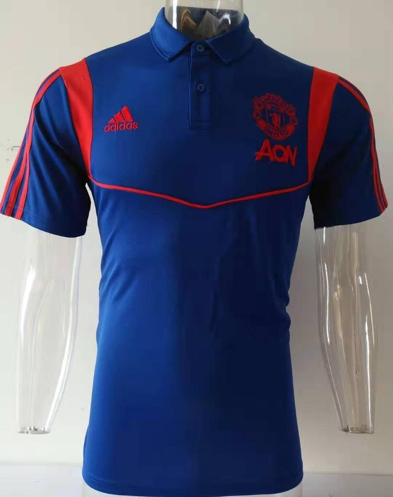 Manchester United Blue Polo T-Shirt