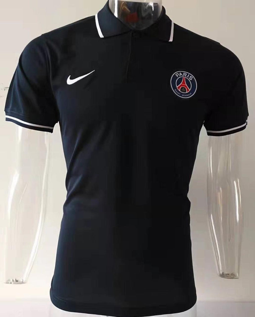 PSG Black Polo T-Shirt