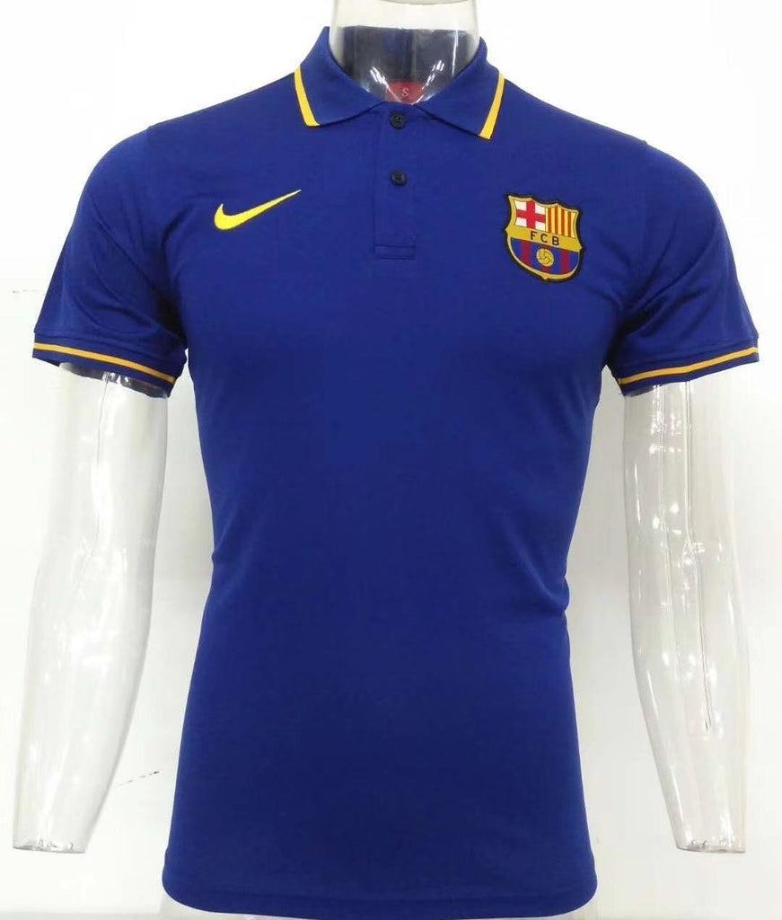 Barcelona Royal Blue Polo T-Shirt