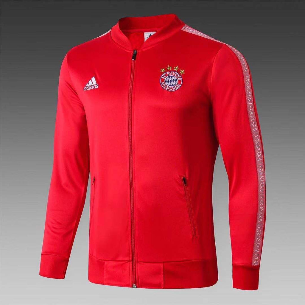 Bayern Munich Red Hand Printed Jacket 19 20 Season