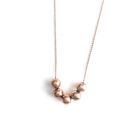 Beaded Necklace (5) Rose Gold