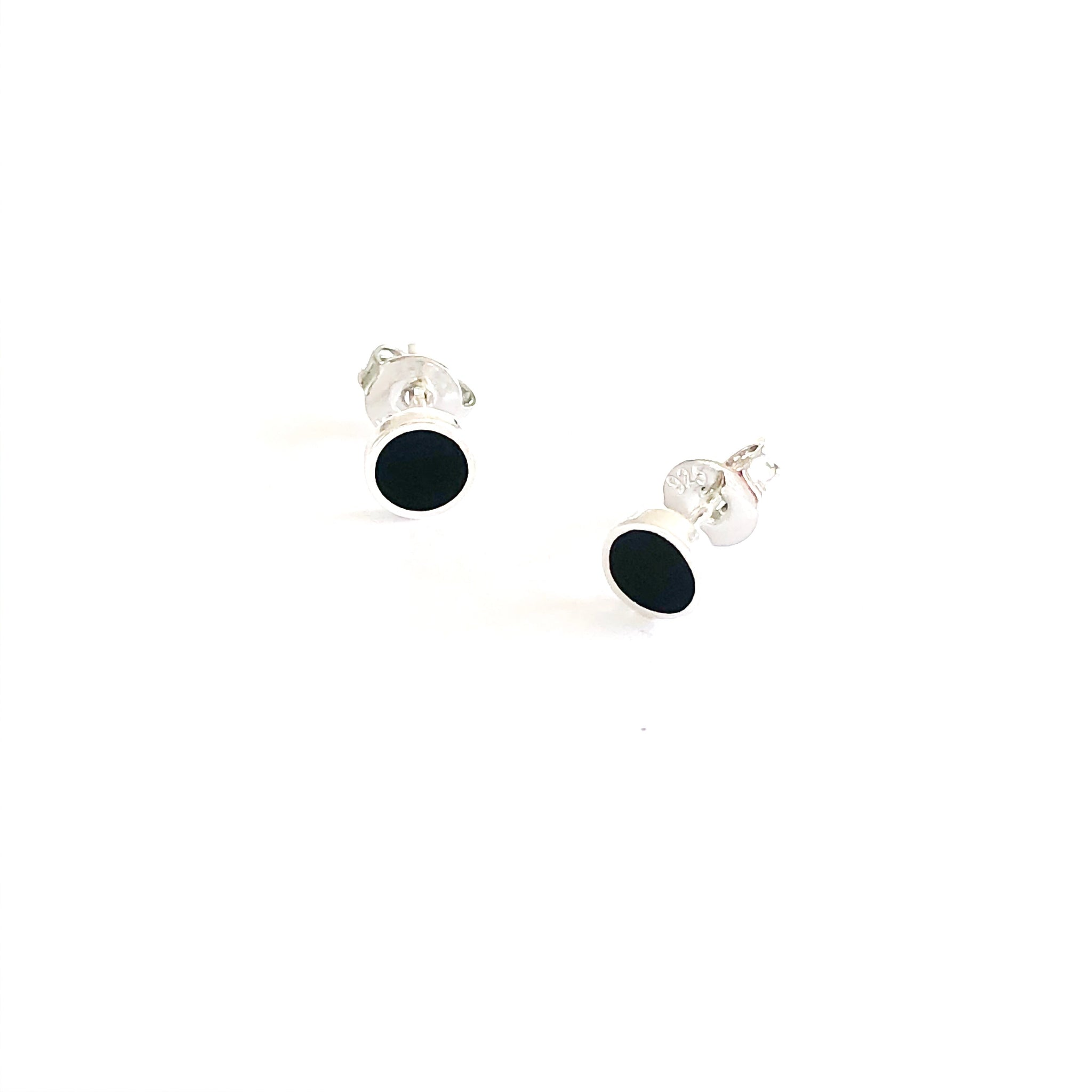 Black Circle Earrings