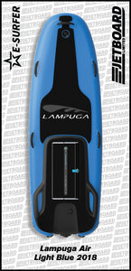 Lampuga Air 2018 electric surfboard for sale in lighter blue