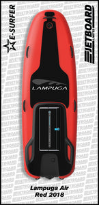 Lampuga Air 2018 electric surfboard for sale in red