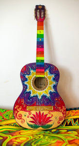 Fantastic handpainted guitar is looking for a new owner