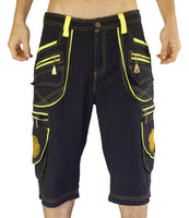Goa Pant clamdiggers many pockets made after order fully customizable with flower of life embroidery
